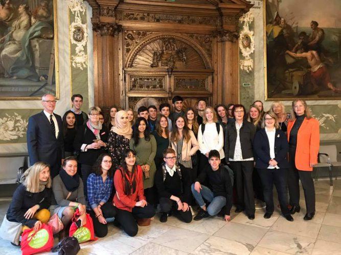 Empfang für Schüler aus La Rochelle